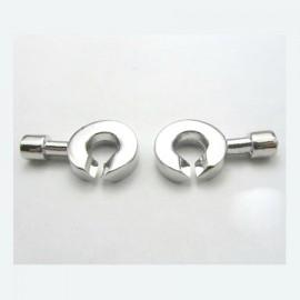 Fermoir menottes design rhodie pour cuir 4mm