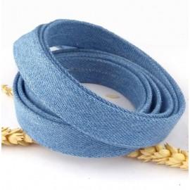 Cordon de jean double 20mm pour bracelet ou ceinture
