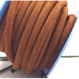 Cordon de daim rond 5mm camel par 20cm