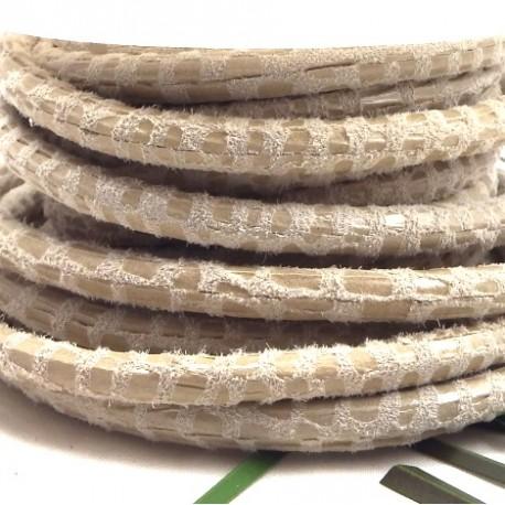 daim rond 5mm creme facon serpent par 20cm