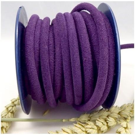 daim rond 5mm violet haute qualite par 20cm