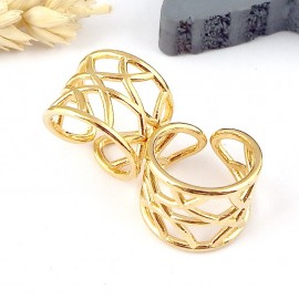 Bague origami zamak or 24k