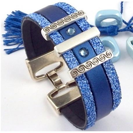 bracelet cuir swarovski