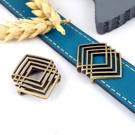passe cuir style ethnique bronze pour cuir plat 20mm