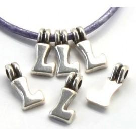 Lettre L pendentif alphabet plaque argent