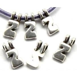 Lettre Z pendentif alphabet plaque argent