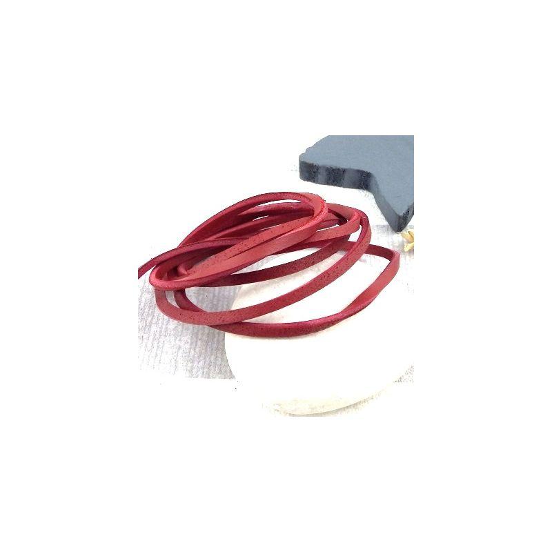 Cuir carre 3mm rouge brique haute qualite par metre - Cuir au metre carre ...