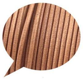 Cordon cuir rond naturel par 20cm