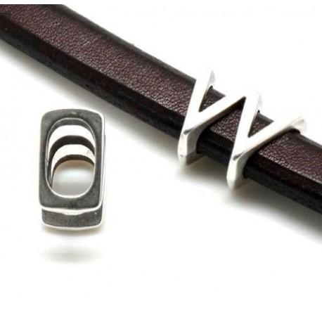 Passe cuir lettre W pour cuir regaliz