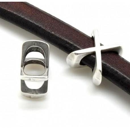 Passant cuir lettre X pour cuir regaliz