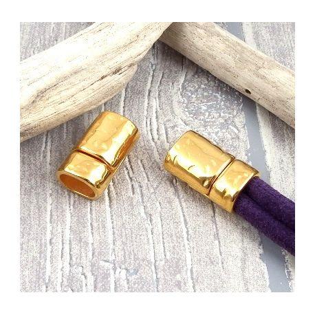 fermoir magnetique martele flashe or pour cuir regaliz