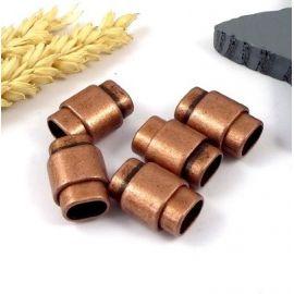 5 fermoirs magnetique zamak cuivre pour cuir regaliz