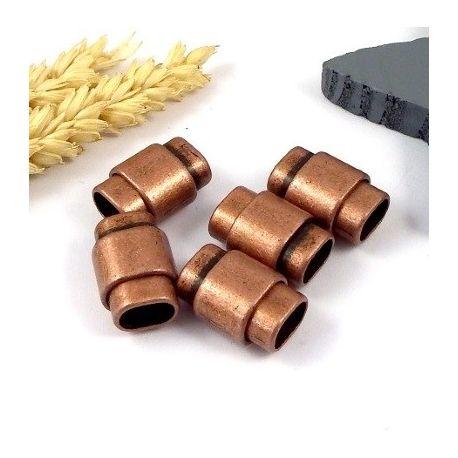 fermoir magnetique zamak cuivre pour cuir regaliz