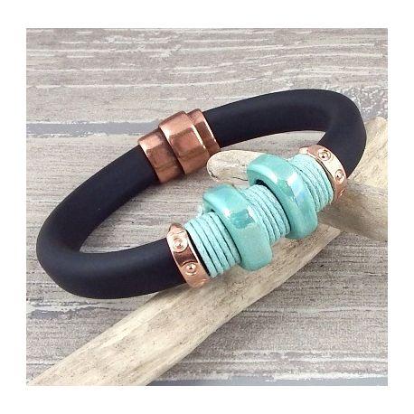 kit bracelet regaliz noir homme style ceinture tutoriel offert