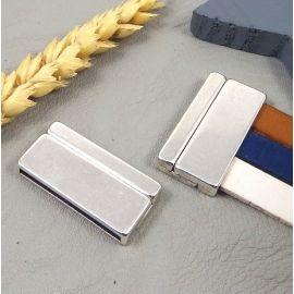 Fermoir magnetique pour cuir 30mm