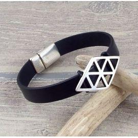 Kit bracelet cuir homme noir boho
