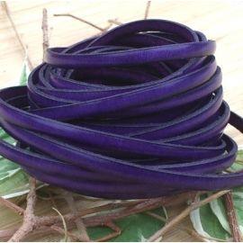 Cuir plat 5mm violet