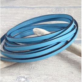Cuir plat 5mm bleu ciel