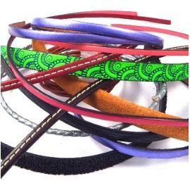 Lot de 10 cordons cuir toutes couleurs et toutes dimensions
