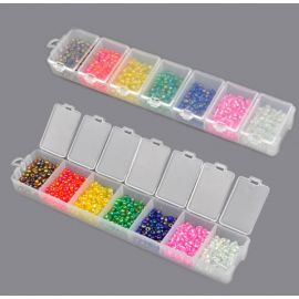Boite de perles de rocailles 8/0 7 couleurs