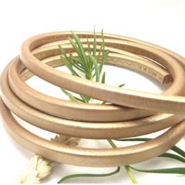 Cuir oval regaliz dore metal