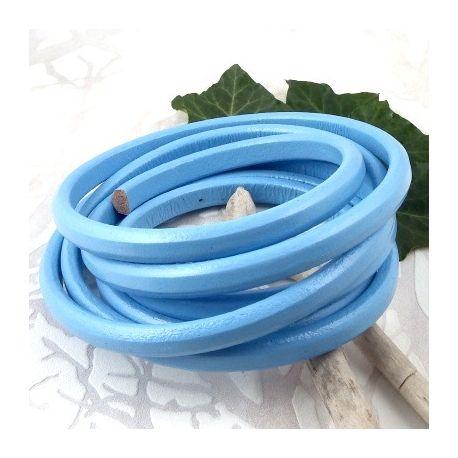 cuir ovale regaliz bleu ciel