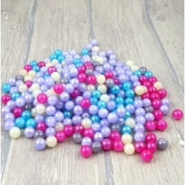 Lot de perles en verre multicolore irise 10mm