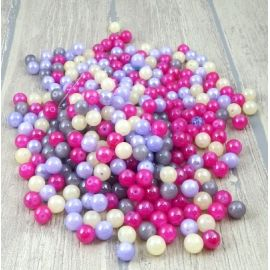 Lot de perles en verre multicolore irise 10mm 450 g