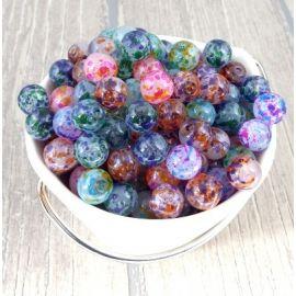 Lot de perles en verre brillant noir 247 grammes 12mm
