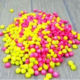 Lot de 700 perles facettes resine fluo