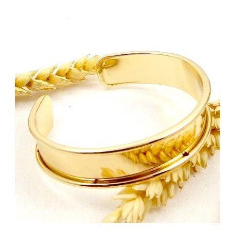 Support bracelet laiton dore a personnaliser