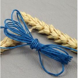 cordon coton legerement cire turquoise fonce 1mm par 10 metres