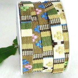 cordon coton ethnique kaki 10mm par 20cm
