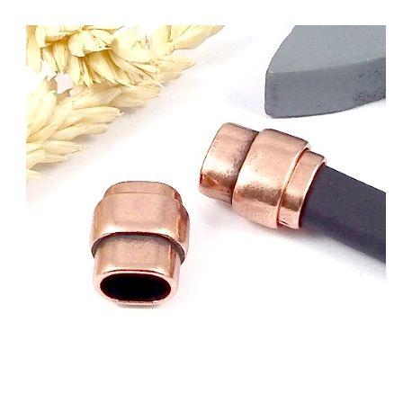 fermoir magnetique zamak or rose pour cuir regaliz