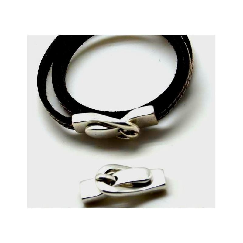 fermoir magnetique ceinture argent pour cuir 5mm. Black Bedroom Furniture Sets. Home Design Ideas