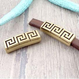 passe cuir strie bronze pour cuir regaliz