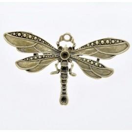 Grand pendentif original abeille 57x48mm bronze