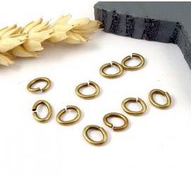 15 anneaux ovales laiton bronze