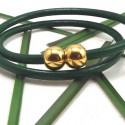 Fermoir magnetique boule dore pour cuir 4mm