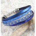 Kit bracelet cuir melodie bleue