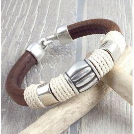kit bracelet cuir regaliz marron marin