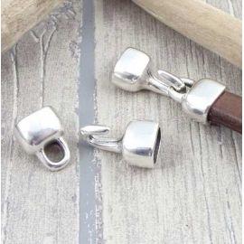 Fermoir crochet argent cuir regaliz