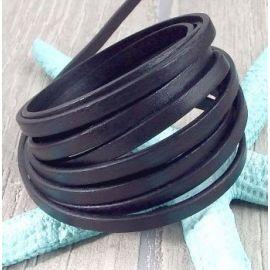 Cuir plat 5mm noir