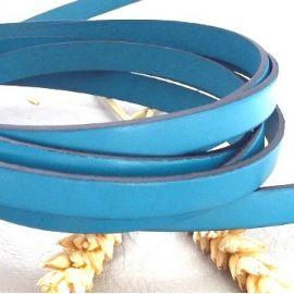 Cuir plat 10mm bleu outremer