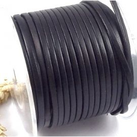 Cuir plat 3mm noir