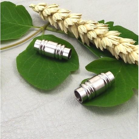 Fermoir magnetique cuir 6mm