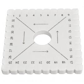 disque tressage kumihimo carré