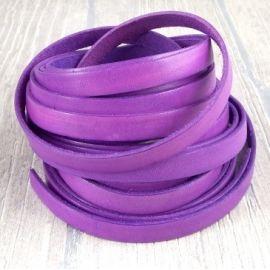 5 m cuir plat 10mm violet vif vintage