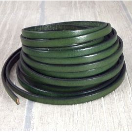 5 metres cuir plat 6mm vert jardin