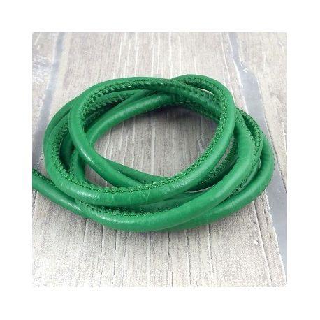 Cuir PU couture vert 5mm